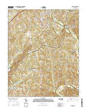 Advance North Carolina Current topographic map, 1:24000 scale, 7.5 X 7.5 Minute, Year 2016 from North Carolina Maps Store