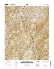 Albemarle North Carolina Current topographic map, 1:24000 scale, 7.5 X 7.5 Minute, Year 2016 from North Carolina Maps Store