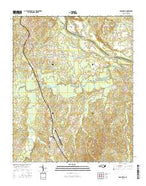Ansonville North Carolina Current topographic map, 1:24000 scale, 7.5 X 7.5 Minute, Year 2016 from North Carolina Map Store