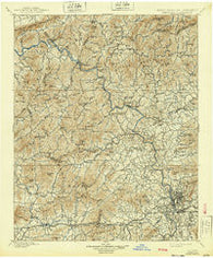 Asheville North Carolina Historical topographic map, 1:125000 scale, 30 X 30 Minute, Year 1901