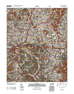 Asheville North Carolina Historical topographic map, 1:24000 scale, 7.5 X 7.5 Minute, Year 2011