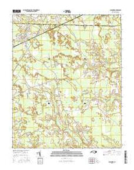Aulander North Carolina Current topographic map, 1:24000 scale, 7.5 X 7.5 Minute, Year 2016