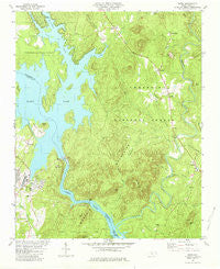 Badin North Carolina Historical topographic map, 1:24000 scale, 7.5 X 7.5 Minute, Year 1981
