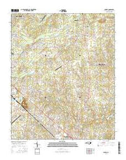 Bakers North Carolina Current topographic map, 1:24000 scale, 7.5 X 7.5 Minute, Year 2016 from North Carolina Maps Store