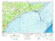 Beaufort North Carolina Historical topographic map, 1:250000 scale, 1 X 2 Degree, Year 1972