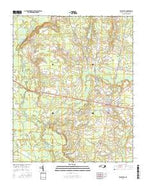 Beulaville North Carolina Current topographic map, 1:24000 scale, 7.5 X 7.5 Minute, Year 2016 from North Carolina Map Store
