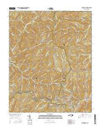 Bunches Bald North Carolina Current topographic map, 1:24000 scale, 7.5 X 7.5 Minute, Year 2016 from North Carolina Map Store
