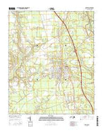 Burgaw North Carolina Current topographic map, 1:24000 scale, 7.5 X 7.5 Minute, Year 2016 from North Carolina Map Store