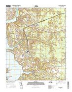 Camp Lejeune North Carolina Current topographic map, 1:24000 scale, 7.5 X 7.5 Minute, Year 2016 from North Carolina Map Store