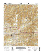 Canton North Carolina Current topographic map, 1:24000 scale, 7.5 X 7.5 Minute, Year 2016 from North Carolina Map Store