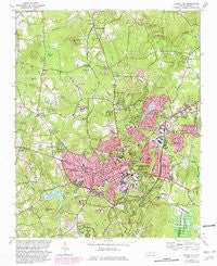 Chapel Hill North Carolina Historical topographic map, 1:24000 scale, 7.5 X 7.5 Minute, Year 1978
