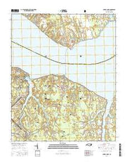 Cherry Point North Carolina Current topographic map, 1:24000 scale, 7.5 X 7.5 Minute, Year 2016 from North Carolina Maps Store