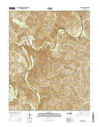 Churchland North Carolina Current topographic map, 1:24000 scale, 7.5 X 7.5 Minute, Year 2016