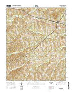 Cleveland North Carolina Current topographic map, 1:24000 scale, 7.5 X 7.5 Minute, Year 2016 from North Carolina Map Store