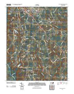 Clinton South North Carolina Historical topographic map, 1:24000 scale, 7.5 X 7.5 Minute, Year 2010