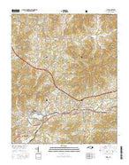 Clyde North Carolina Current topographic map, 1:24000 scale, 7.5 X 7.5 Minute, Year 2016 from North Carolina Map Store