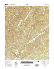 Collettsville North Carolina Current topographic map, 1:24000 scale, 7.5 X 7.5 Minute, Year 2016 from North Carolina Maps Store