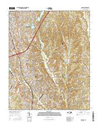 Concord North Carolina Current topographic map, 1:24000 scale, 7.5 X 7.5 Minute, Year 2016