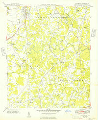 Concord SE North Carolina Historical topographic map, 1:24000 scale, 7.5 X 7.5 Minute, Year 1949