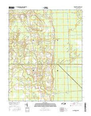 Corapeake North Carolina Current topographic map, 1:24000 scale, 7.5 X 7.5 Minute, Year 2016 from North Carolina Maps Store