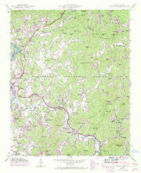 Corbin Knob North Carolina Historical topographic map, 1:24000 scale, 7.5 X 7.5 Minute, Year 1946