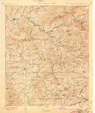 Cowee North Carolina Historical topographic map, 1:125000 scale, 30 X 30 Minute, Year 1897