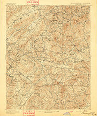 Cranberry North Carolina Historical topographic map, 1:125000 scale, 30 X 30 Minute, Year 1893