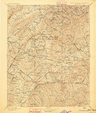 Cranberry North Carolina Historical topographic map, 1:125000 scale, 30 X 30 Minute, Year 1895