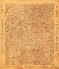 Cranberry North Carolina Historical topographic map, 1:125000 scale, 30 X 30 Minute, Year 1899