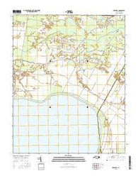 Creswell North Carolina Current topographic map, 1:24000 scale, 7.5 X 7.5 Minute, Year 2016