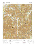 Cruso North Carolina Current topographic map, 1:24000 scale, 7.5 X 7.5 Minute, Year 2016 from North Carolina Map Store