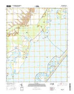 Davis North Carolina Current topographic map, 1:24000 scale, 7.5 X 7.5 Minute, Year 2016 from North Carolina Map Store