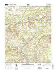 Deep Run North Carolina Current topographic map, 1:24000 scale, 7.5 X 7.5 Minute, Year 2016