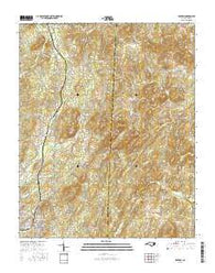 Denton North Carolina Current topographic map, 1:24000 scale, 7.5 X 7.5 Minute, Year 2016