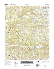 Drexel North Carolina Current topographic map, 1:24000 scale, 7.5 X 7.5 Minute, Year 2016 from North Carolina Maps Store