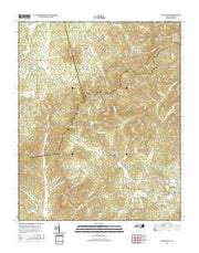 Dysartsville North Carolina Current topographic map, 1:24000 scale, 7.5 X 7.5 Minute, Year 2016 from North Carolina Maps Store