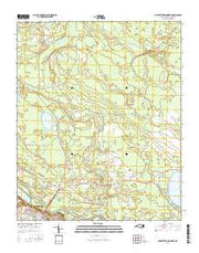 Elizabethtown North North Carolina Current topographic map, 1:24000 scale, 7.5 X 7.5 Minute, Year 2016 from North Carolina Maps Store