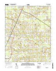 Elm City North Carolina Current topographic map, 1:24000 scale, 7.5 X 7.5 Minute, Year 2016
