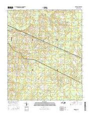 Emerson North Carolina Current topographic map, 1:24000 scale, 7.5 X 7.5 Minute, Year 2016 from North Carolina Maps Store