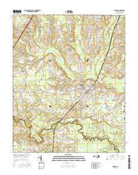 Enfield North Carolina Current topographic map, 1:24000 scale, 7.5 X 7.5 Minute, Year 2016