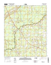 Evergreen North Carolina Current topographic map, 1:24000 scale, 7.5 X 7.5 Minute, Year 2016 from North Carolina Maps Store