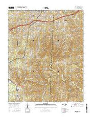 Fair Grove North Carolina Current topographic map, 1:24000 scale, 7.5 X 7.5 Minute, Year 2016 from North Carolina Maps Store