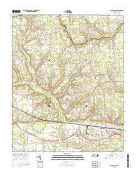 Falling Creek North Carolina Current topographic map, 1:24000 scale, 7.5 X 7.5 Minute, Year 2016