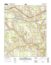 Farmville North Carolina Current topographic map, 1:24000 scale, 7.5 X 7.5 Minute, Year 2016
