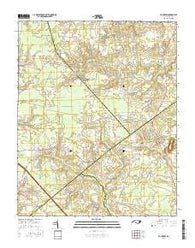 Fountain North Carolina Current topographic map, 1:24000 scale, 7.5 X 7.5 Minute, Year 2016