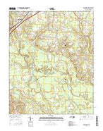 Four Oaks NE North Carolina Current topographic map, 1:24000 scale, 7.5 X 7.5 Minute, Year 2016 from North Carolina Map Store