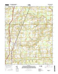 Fremont North Carolina Current topographic map, 1:24000 scale, 7.5 X 7.5 Minute, Year 2016