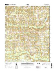 Galatia North Carolina Current topographic map, 1:24000 scale, 7.5 X 7.5 Minute, Year 2016