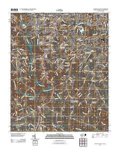 Gastonia South North Carolina Historical topographic map, 1:24000 scale, 7.5 X 7.5 Minute, Year 2011