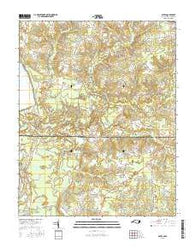 Gates North Carolina Current topographic map, 1:24000 scale, 7.5 X 7.5 Minute, Year 2016
